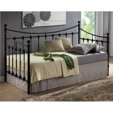Florida Vintage Style Daybed In Black Metal