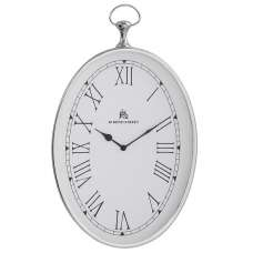 Lynn Oval Shape Wall Clock In White