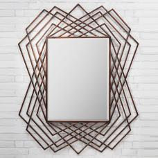 Spectre Geometric Wall Mirror In Burnished Copper
