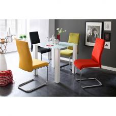 Hanna Square Glass Dining Table With 4 Jonas Chair