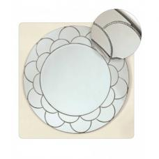 Hollywood Zig Zag Circle Wall Mirror