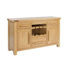 Hywel Contemporary Solid Oak Finish Sideboard