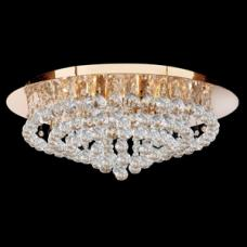 Hanna Semi Flush Gold Finish 8 Light Ceiling Light