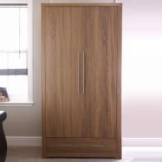 Mariona Wardrobe In Oak With 2 Doors And 1 Drawer