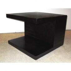 Helsinki Wooden End Side Table In Natural Black Ash