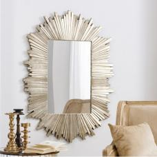 Hatfield Starburst Wall Mirror Rectangular In Dark Gold