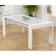Lexus High Gloss White Glass Dining Table Only