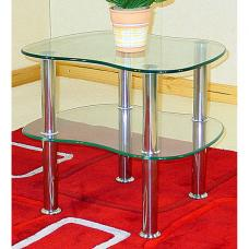 Hudson 2 Tier Clear Glass Side Table