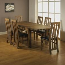 Sardinia Solid Acacia Wooden Dining Set With 6 Chairs