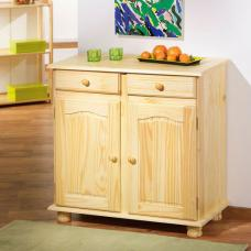 Pamina 2 Door Sideboard in Clear Varnish With 2 Drawer