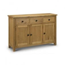 Raven Wooden Sideboard In Oak Finish With 3 Door And 3 Drawer