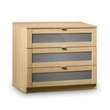Simo Light Oak Finish 3 Drawer Chest