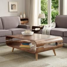 Marin Coffee Table In Walnut With Solid Ash Spindle Shape Legs
