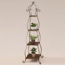 Dresen Display Stand In Metal With Burnished Silver Leaf