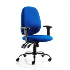 Lisbon Blue Office Chair