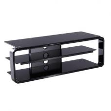 Hedon Glass LCD TV Stand In Black With 2 Shelf