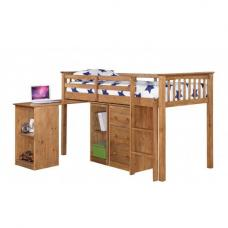 Milli Antique Wax Pine Finish Sleep Station With Pull Out Desk