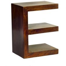 Mango Wood E Shape Display Unit