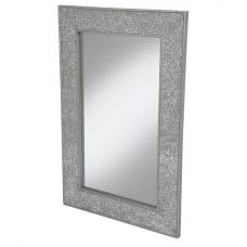 Clara Wall Mirror Large Rectangular In Silver Mosaic Frame