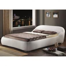 Manhattan White Faux Leather Double Bed