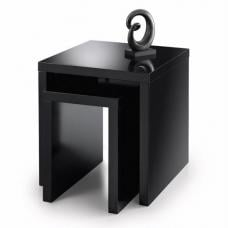 Metric 2 Nest of Tables Square In Black High Gloss