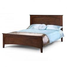 Salento Wooden Contemporary King Size Bed In Wenge
