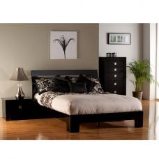 Modena Bed In High Gloss Black
