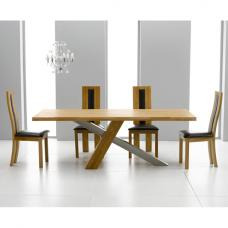 Antonio Solid Oak Dining Table And 6 Havana Dining Chairs
