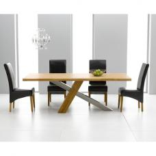 Antonio Solid Oak Dining Table And 6 Roma Dining Chairs