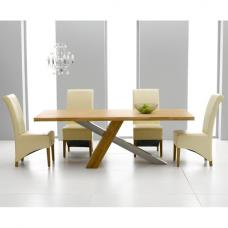Antonio Solid Oak Dining Table And 6 Barcelona Dining Chairs