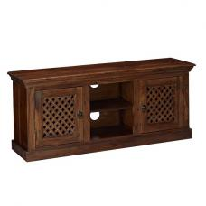 Bursa LCD TV Stand In Sheesham Wood With 2 Doors