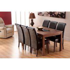 Nevada Dining Table And 6 Black Dining Chairs
