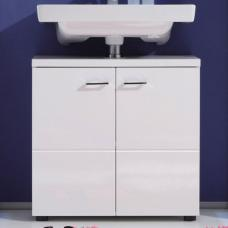 Nightlife Vanity Cabinet In White With High Gloss Fronts