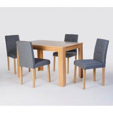Norfolk Oak Finish Rectangular Dining Table And 4 Chairs
