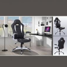 Stylo Modern Home Office Chair In Black And White Faux Leather