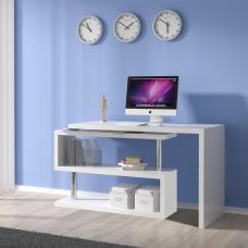 Miami Computer Desk Rotating In White High Gloss