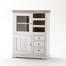 Opal Display Cabinet With Wine Rack And Glass Cabinet