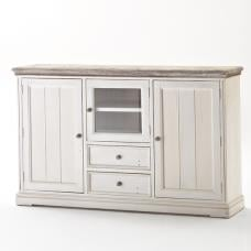 Opal Highboard In White Pine With 2 Drawers