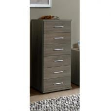 Sourin Chest of Drawers Tall In Montana Oak With 6 Drawers