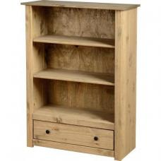 Amitola 1 Drawer Bookcase in Natural Oak Wax