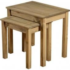 Amitola Nest of 2 Tables in Natural Oak Wax