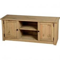 Amitola 2 Door 1 Shelf Flat Screen TV Unit in Natural Oak Wax