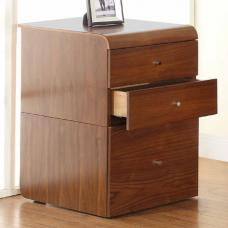 Juoly Office Pedestal In Walnut With 3 Drawers