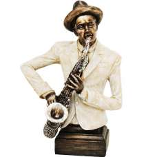 Musician With Saxophone Sculpture