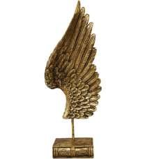 Angel Wing Right Gold On Base Sculpture
