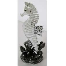 Seahorse Sculpture In Silver Finish