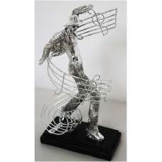 Male Dancer With Musical Note Sculpture