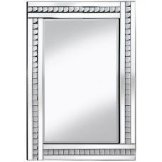Daisy Wall Mirror Large In Silver With Acrylic Crystals