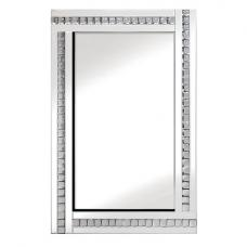 Daisy Wall Mirror In White With Acrylic Crystals Décor