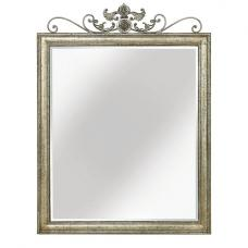 Vilnius Wall Mirror Rectangular In Antique Rubbed Metal Frame
